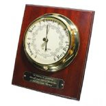 Barometer Marine Style Wall Mounted, Personalised, ref MB01